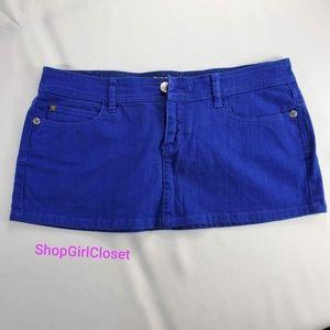 💥Just In💥WAX Jeans Blue Mini Skirt...Sz L Junior